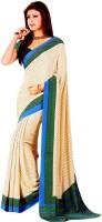 Khushali Printed Fashion Crepe Saree(Beige)