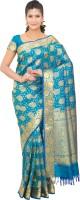 Thara Sarees Self Design Kanjivaram Art Silk Saree(Light Blue)