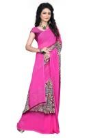 M.S.Retail Printed Fashion Chiffon Saree(Pink)