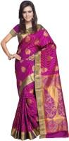 Sonal Trendz Self Design Kanjivaram Art Silk Saree(Purple)