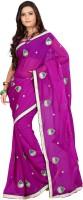 Ansu Fashion Self Design Fashion Georgette Saree(Purple)