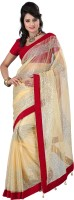 Indrani Printed Fashion Net Saree(Beige)
