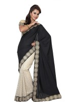 Ishin Embellished Fashion Modal Saree(Black)