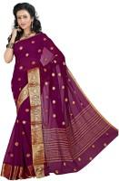 Roopkala Silks Woven Mysore Chiffon Saree(Maroon)