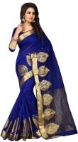 Style U Self Design Bollywood Polycotton Saree(Blue)