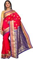 Pavechas Printed Kanjivaram Art Silk Saree(Multicolor)