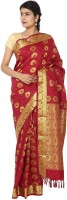 Thara Sarees Self Design Kanjivaram Art Silk Saree(Maroon)
