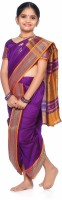 Bhartiya Paridhan Self Design Shalu Art Silk Saree(Purple)