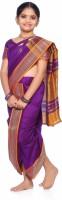Bhartiya Paridhan Self Design Shalu Art Silk Saree(Purple)