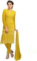 Shreeji Fashion Chiffon Embroidered Salwar Suit Dupatta Material(Un-stitched)