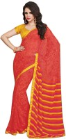 Stylish Girls Printed Fashion Pure Chiffon Saree(Multicolor)