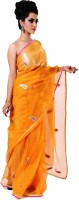 Ranas Self Design Fashion Tissue Saree(Yellow)
