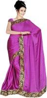 Sonal Trendz Self Design Fashion Chiffon Saree(Purple)