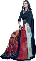Valeska Printed Fashion Cotton Blend, Poly Georgette Saree(Multicolor)