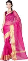 Chandrakala Woven Banarasi Banarasi Silk Saree(Pink)