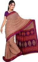 Khoobee Self Design, Printed Fashion Poly Georgette Saree(Purple)