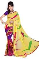 Cenizas Printed Fashion Georgette Saree(Multicolor)