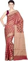 Chandrakala Paisley Banarasi Silk Cotton Blend Saree(Red)
