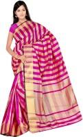 Kalva Striped Chanderi Chanderi Saree(Pink)