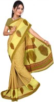 Jiya Self Design Fashion Poly Georgette Saree(Green)