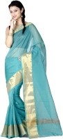 Chandrakala Solid Banarasi Banarasi Silk Saree(Green)