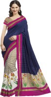 Bhavi Printed Fashion Art Silk Saree(Blue)