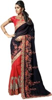 Vishal Printed Fashion Crepe Saree(Maroon)