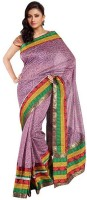 Kataan Bazaar Self Design Banarasi Chanderi Saree(Purple)