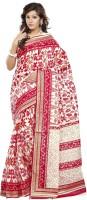 Minu Suits Printed Fashion Cotton Saree(Red)