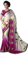 Khoobee Self Design, Printed Fashion Chiffon Saree(Multicolor)