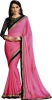 Vastrani Embroidered Fashion Chiffon Saree(Pink)