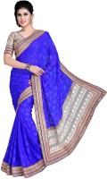 Jiya Self Design, Embroidered Fashion Cotton Blend Saree(Blue)