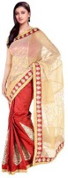 Kataan Bazaar Self Design Banarasi Net Saree(Red)