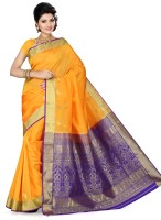 Ishin Self Design Fashion Art Silk Saree(Multicolor)