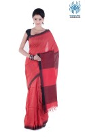 Tantuja Woven Tangail Silk Saree(Red)