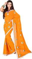 Ansu Fashion Self Design Fashion Georgette Saree(Yellow)