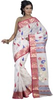 Hawai Floral Print Tant Silk Saree(Multicolor)