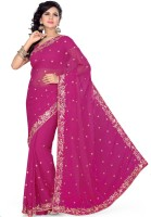 Saree Swarg Self Design Bollywood Chiffon Saree(Pink)