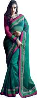 Valeska Printed Fashion Cotton Blend Saree(Green)