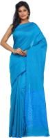 Kataan Bazaar Woven Banarasi Handloom Tussar Silk Saree(Blue)