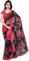 Anand Sarees Printed Daily Wear Synthetic Georgette Saree(Red)
