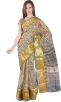 Fab Rajasthan Floral Print Kota Doria Cotton Saree(Multicolor)