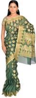 Jagadamba Self Design Fashion Silk Saree(Green)