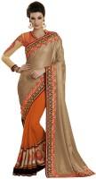 Desi Butik Self Design Fashion Georgette Saree(Multicolor)