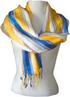 Dushaalaa Striped Silk, Viscose Women's Scarf