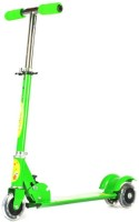 Zeemon 3 Wheel LED Tyres Tricycle Cycle Adjustable Manual Scooter(Green)