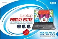 Saco Privacy Screen Guard for Dell Inspiron 15 352134500iBU1Laptop