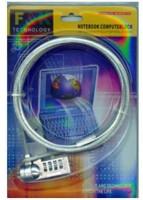 View F&K NOTEBOOKCOMPUTERLOCK notebookComputerLock-001(SILVER) Laptop Accessories Price Online(F&K)
