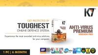 K7 Anti-Virus Premium 1 PC 6 Months (Activation card)