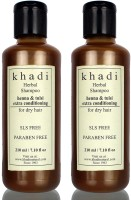 Khadi Herbal Henna and Tulsi Extra Conditioning SLS and Parabens Free Shampoo (Twin Pack)(420 ml)